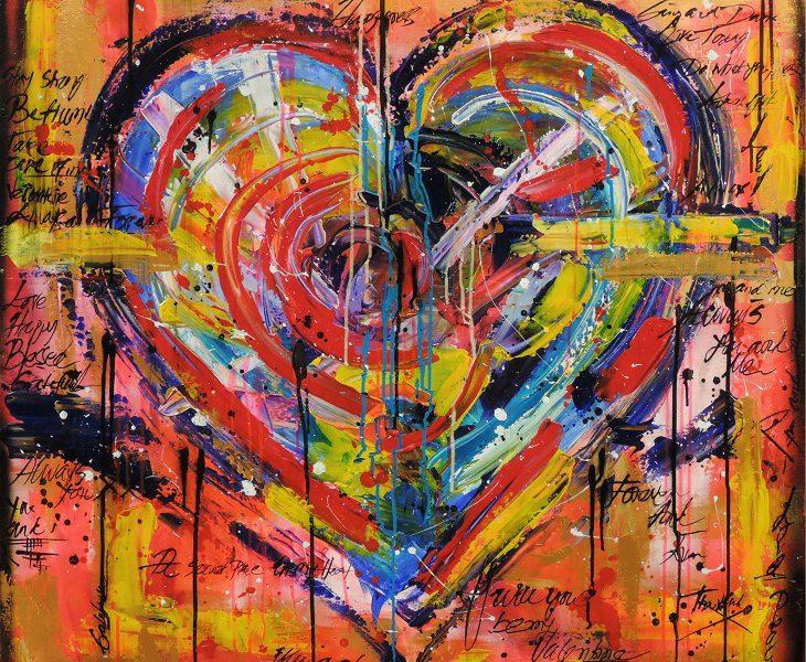 Canvastryck Håll mitt hjärta 100×100
