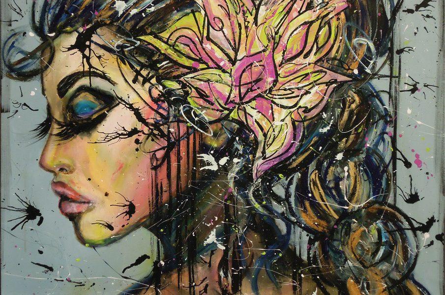 Canvastryck Sunshine & frosty swirl 80×100